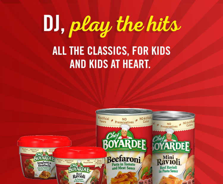 DJ, play the hits. All the classics, for kids and kids at heart.