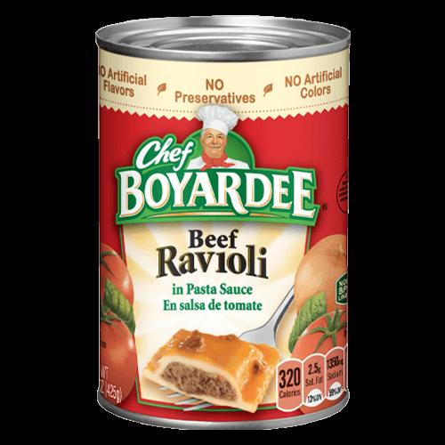 Beef Ravioli Can from Chef Boyardee
