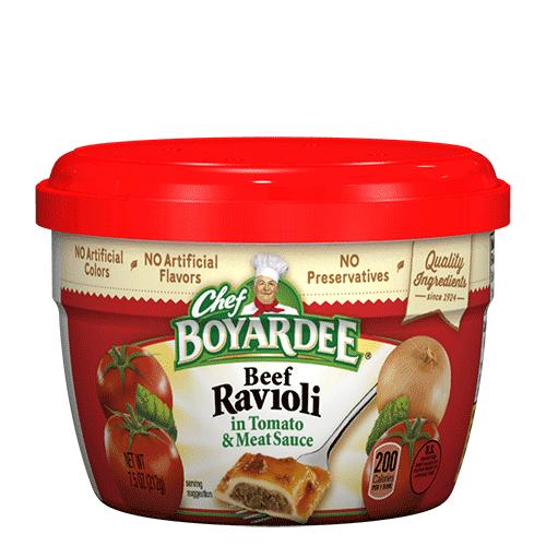 Beef Ravioli Microwavable Cup