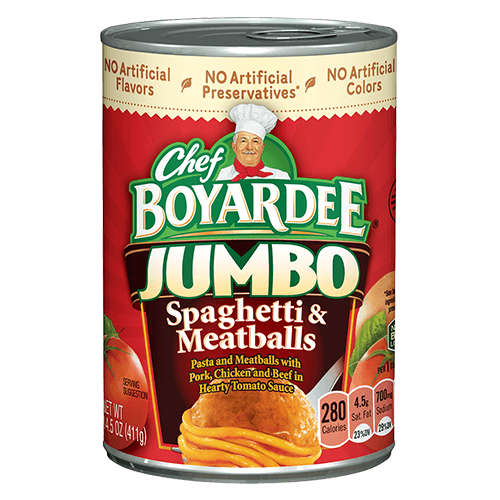 Canned Microwave Spaghetti Chef Boyardee