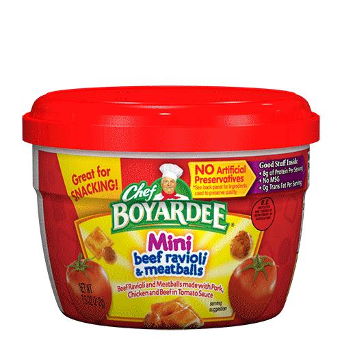 Chef Boyardee Brand Logo Mini Beef Ravioli Meat